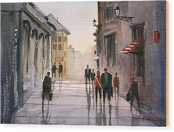 A Stroll In Italy Wood Print by Ryan Radke