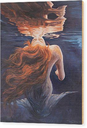 A Trick Of The Light - Love Is Illusion Wood Print by Marco Busoni