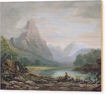 A Welsh Valley Wood Print by John Varley