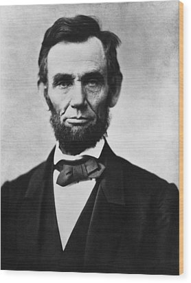 Abraham Lincoln Wood Print by War Is Hell Store