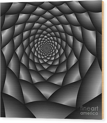 Abstract 219 Bw Wood Print by Rolf Bertram