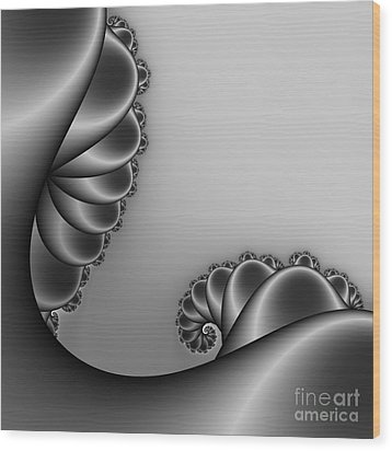 Abstract 226 Bw Wood Print by Rolf Bertram