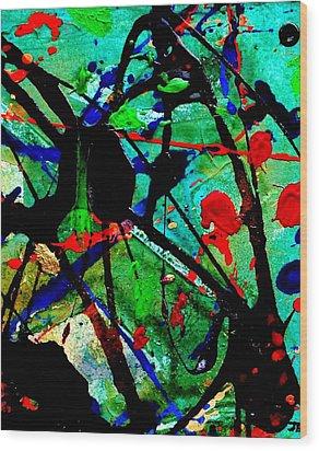 Abstract 40 Wood Print by John  Nolan