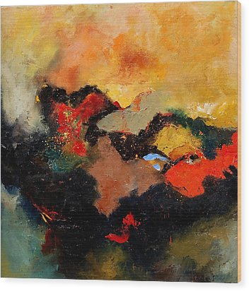 Abstract 8080 Wood Print by Pol Ledent