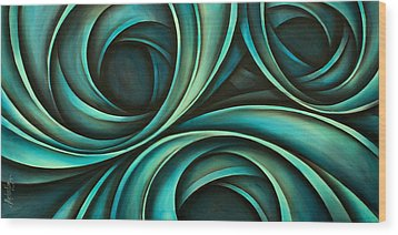 Abstract Design 33 Wood Print by Michael Lang