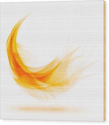 Abstract Feather Wood Print by Setsiri Silapasuwanchai