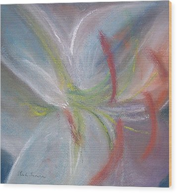 Abstract Lily Wood Print by Jackie Bush-Turner