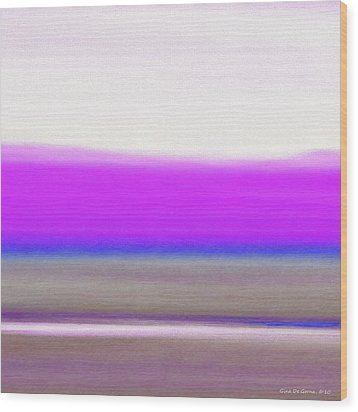 Abstract Sunset 65 Wood Print by Gina De Gorna