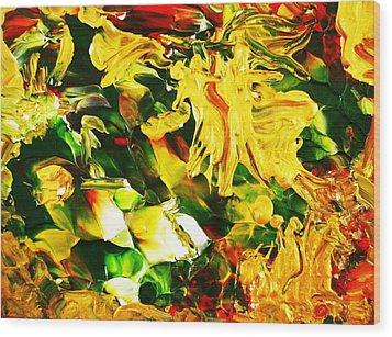 Abundentia Wood Print by Carmen Doreal