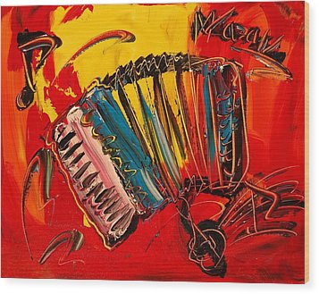 Accordeon Wood Print by Mark Kazav
