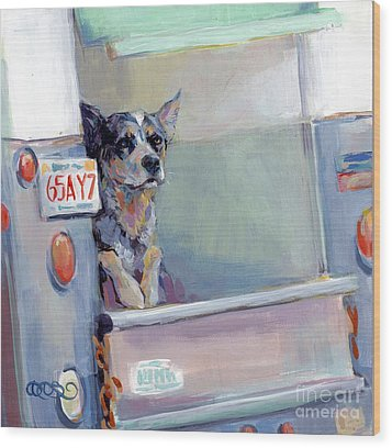 Acd Delivery Boy Wood Print by Kimberly Santini