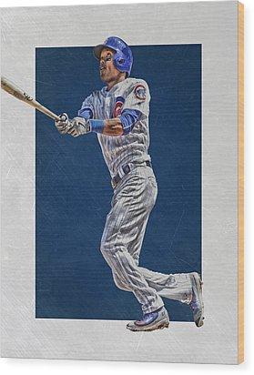 Addison Russell Chicago Cubs Art Wood Print by Joe Hamilton