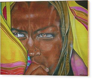 African Princess Wood Print by Ralph Lederman