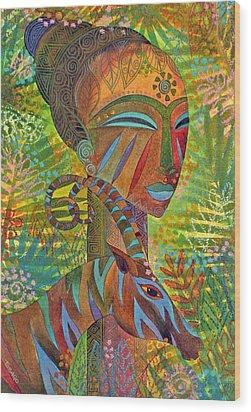 African Queens Wood Print by Jennifer Baird