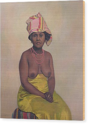 African Woman Wood Print by Felix Edouard Vallotton
