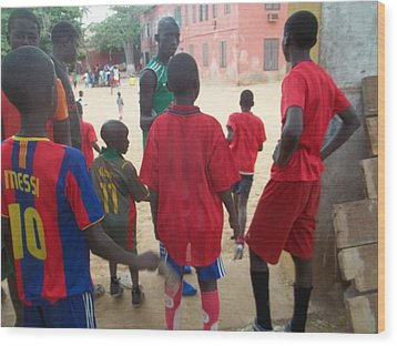 After The Game - Goree Boys Wood Print by Eugene Simon