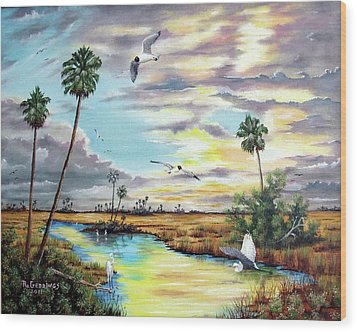 After The Storm Wood Print by Riley Geddings