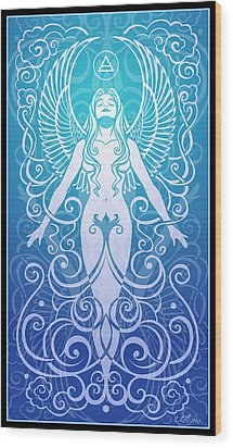 Air Spirit Wood Print by Cristina McAllister