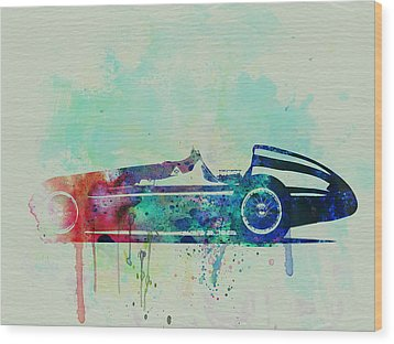 Alfa Romeo Tipo Watercolor Wood Print by Naxart Studio