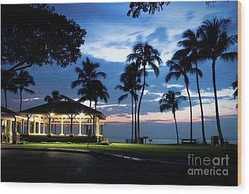 Alii Kahekili Nui Ahumanu Beach Park Hanakaoo Kaanapali Maui Hawaii Wood Print by Sharon Mau