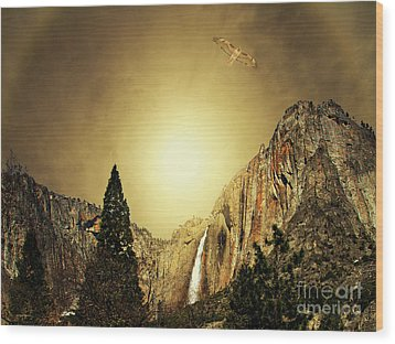 Almost Heaven . Full Version Wood Print by Wingsdomain Art and Photography