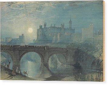 Alnwick Castle Wood Print by Joseph Mallord William Turner