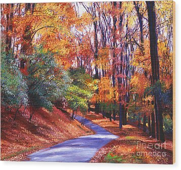 Along The Winding Road Wood Print by David Lloyd Glover