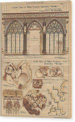 Altar Screen Beverly Minster East Riding Yorkshire England 1883 Wood Print by Gibbons Sankley