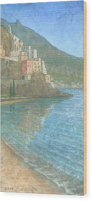 Amalfi Wood Print by Steve Mitchell