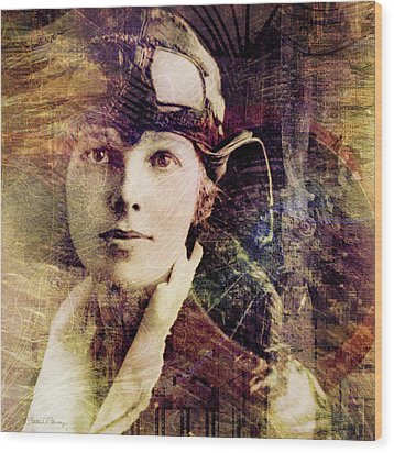 Amelia Wood Print by Barbara Berney