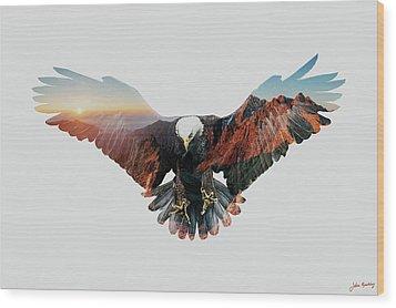 American Eagle Wood Print by John Beckley