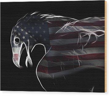 American Eagle Wood Print by Melanie Viola