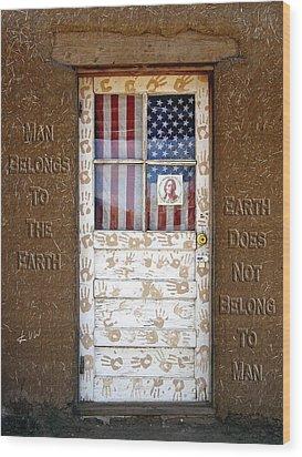 American Native Finger Prints Wood Print by Kurt Van Wagner