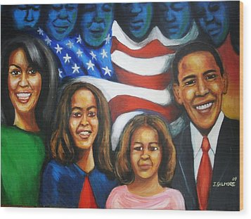 America's First Family Wood Print by Jan Gilmore