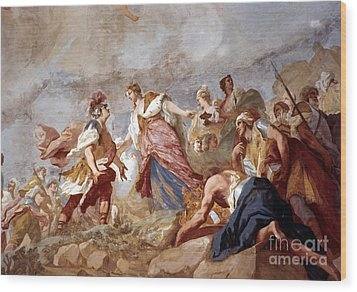Amigoni: Dido And Aeneas Wood Print by Granger