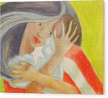 Amor Eterno Wood Print by Mayra  Martinez