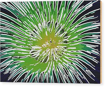 An Abstract Scene Of Sea Anemone 2 Wood Print by Lanjee Chee
