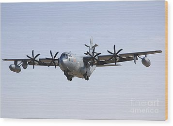 An Ec-130j Commando Solo Aircraft Wood Print by Stocktrek Images