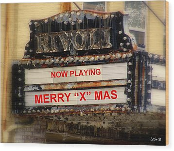 An X Rated Holiday Wood Print by Ed Smith