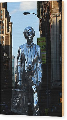 Andy Warhol New York Wood Print by Andrew Fare
