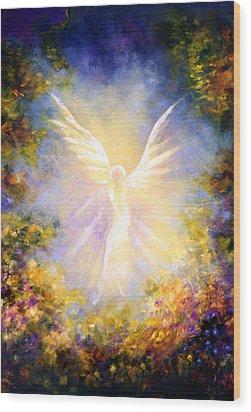 Angel Descending Wood Print by Marina Petro