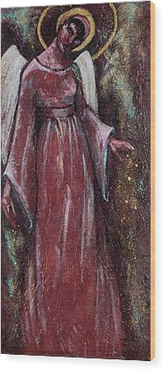 Angel Judy Wood Print by Mary DuCharme