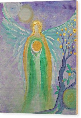 Angel Of Acceptance Wood Print by Alma Yamazaki