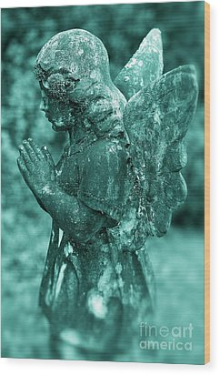 Angel Prayer Wood Print by John Greim