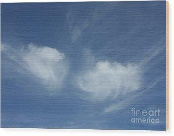 Angel Wings In The Sky Wood Print by Carol Groenen