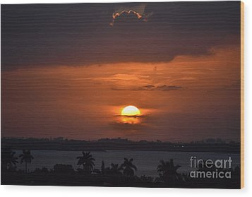 Angel's Head Sunset Wood Print by Rene Triay Photography