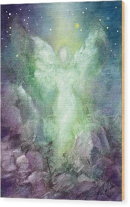Angels Journey Wood Print by Marina Petro