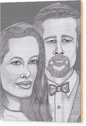 Angie And Brad Wood Print by Richard Heyman