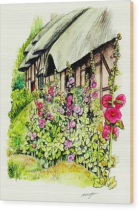 Anne Hathaway Cottage Wood Print by Morgan Fitzsimons