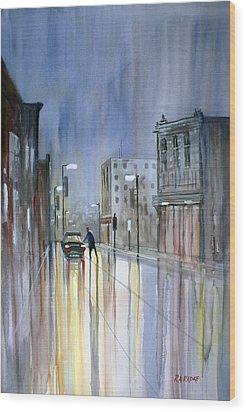 Another Rainy Night Wood Print by Ryan Radke